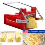 Stainless Steel French Fry Cutter Potato Vegetable Slicer Chopper Dicer 2 Blades - P&Rs House