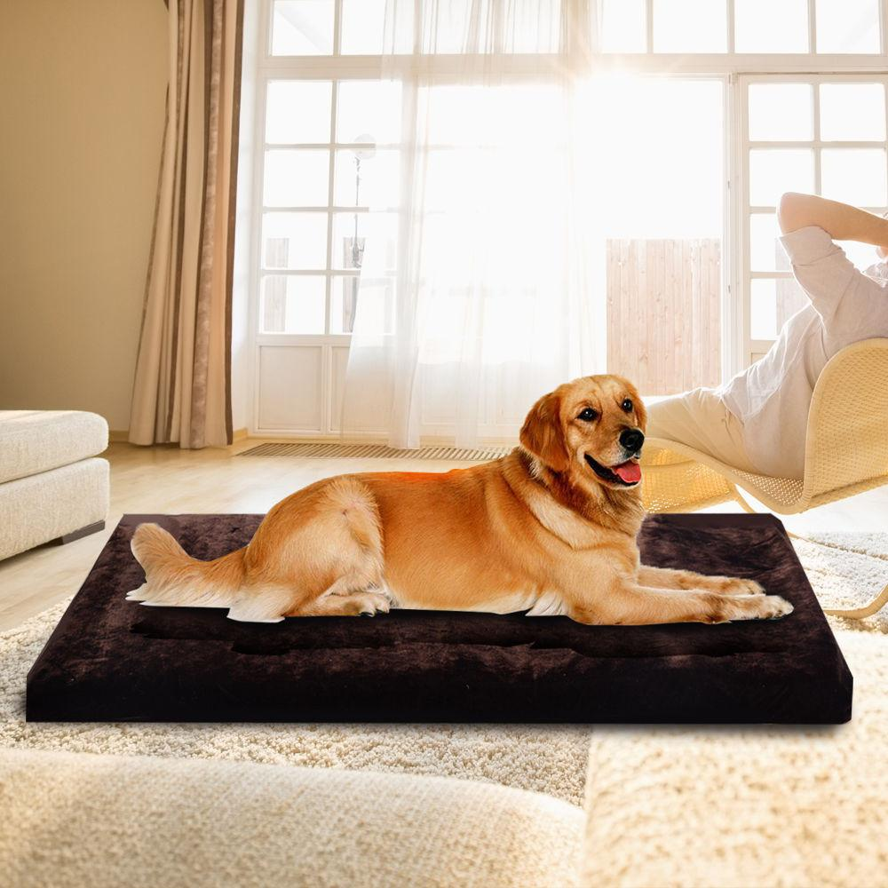 Costway Waterproof Large Warm Soft Fleece Pet Pad Dog Cat Puppy Bed Mat Kennel Cushion - P&Rs House