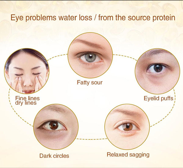 STANDOUT NATURAL  CARE 24K Gold Crystal Collagen Eye Patches For Dark Circles  Anti-Aging Wrinkle Skin Care