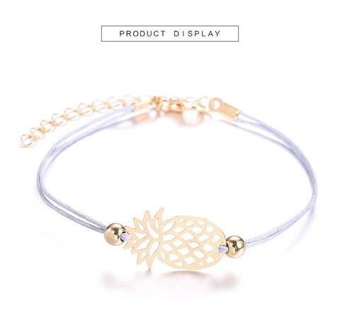DIEZI Bohemian Turtle Pineapple Heart Map Charm Bracelets Bangles For Women Fashion Beads Strand Bracelets Sets Jewelry Gifts