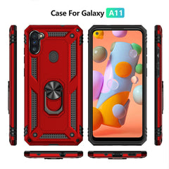 For Samsung Galaxy A01 A11 A21 Case Shockproof Hybrid Rugged Armor Holder Cover