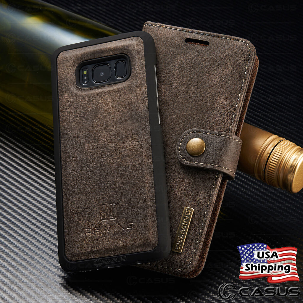 Leather Flip Case Cover Removable Wallet  For Galaxy S10/S9/S8/Note 10/9/8 - P&Rs House