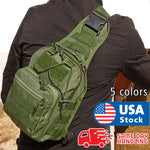 Outdoor Shoulder Chest Bag men Military Tactical Backpack Travel Camping Hiking - P&Rs House