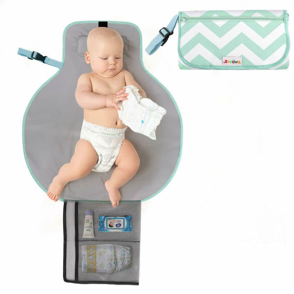 Zooawa Baby Cute Portable Waterproof Travel Diaper Changing Pad Fold Mat Station