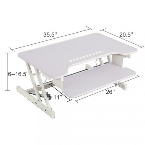 35 X 20 X26' Adjustable Height Standing Desk, Office Stand Up Desk Optional Standing Desk Mat