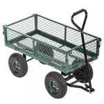 Garden Carts Yard Dump Wagon Cart Lawn Utility Cart Outdoor Steel Heavy Duty - P&Rs House