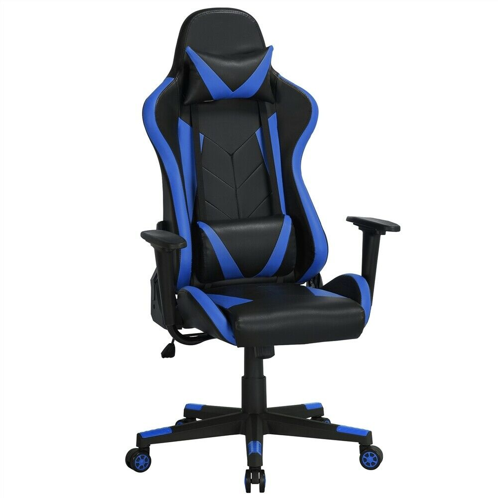 Executive Swivel Leather Gaming Chair Racing Office High-back Computer Chair