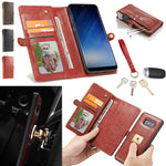 Detachable Leather Strap Wallet Magnetic Flip Card Case For Galaxy Note 9/S9/S8 - P&Rs House