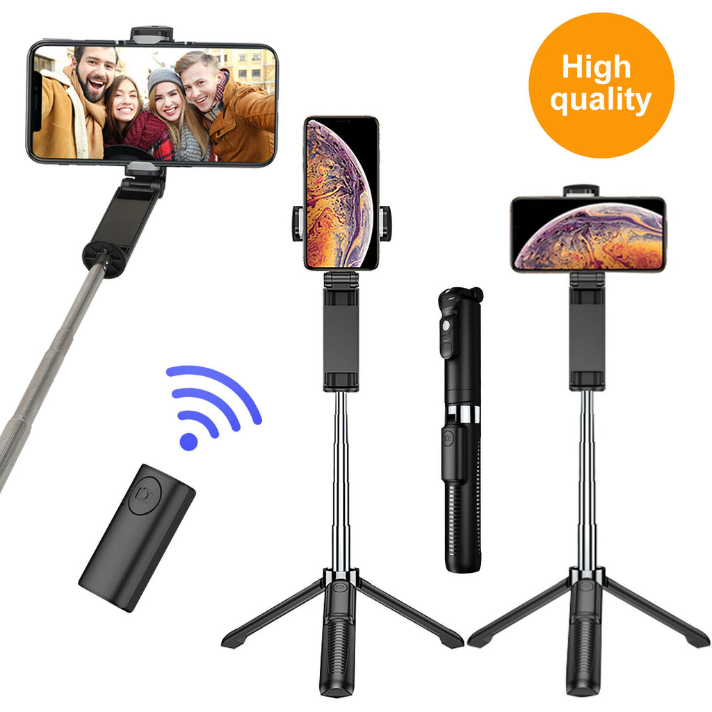 3 in 1 Wireless Bluetooth Selfie Stick Tripod Extendable Remote Camera Universal - P&Rs House