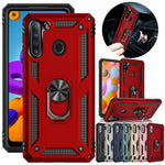 For Samsung Galaxy A01 A11 A21 Case Shockproof Hybrid Rugged Armor Holder Cover - P&Rs House