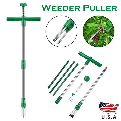 1PC Weed Puller Manual Twister Remover Weeder Garden Lawm Weeding Tool Auto-ejec
