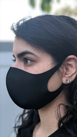 5 pack - Black Face Shield , Washable, Reusable, Unisex, Free Same Day Shipping