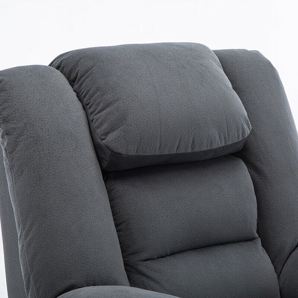 Swivel Rocker Recliner Chair High Back Ergonomic Overstuffed Suede Glider Sofa