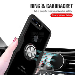 Luxury Silicone Soft Bumper Case For IPhone 8 6 6s 7 Includes Car Holder Ring | STANDOUT Case For IPhone X XR XS Max Shockproof Phone Case