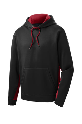 Andrew Jackson High 100% Polyester Embroidered Hoodie: Red & Black