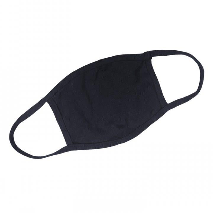 12 Pack Black Cloth Face Mask w/Ear Loop: In Stock Now!