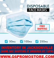 Load image into Gallery viewer, $36 for 60 Pack of Adult Blue 3-Ply Disposable Face Masks (60 cents each, In Stock Now!)