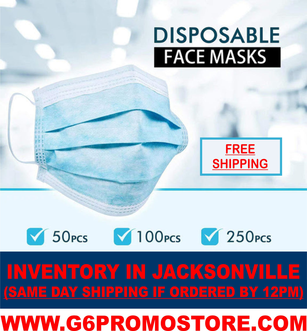 $36 for 60 Pack of Adult Blue 3-Ply Disposable Face Masks (60 cents each, In Stock Now!)
