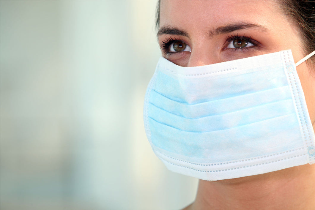 Blue 3-Ply Disposable Face Masks: In Stock Now (All in stock items ship next day guaranteed)
