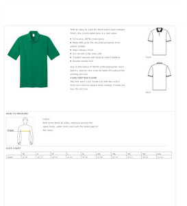 R. V. Daniels Uniform Polo: Green