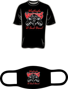 Westside High 2021 Senior T-Shirt & Mask: Black
