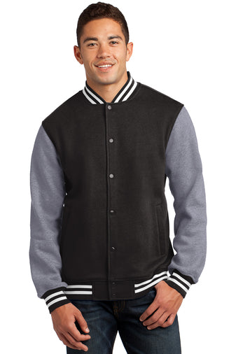 Andrew Jackson High Fleece Letterman Jacket:  Black