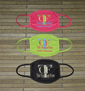 Custom Full Color Polyester 100 Pack of Face mask