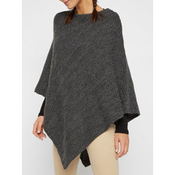 poncho gris mujer