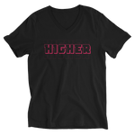 HIGHER V-Neck Unisex Black Tee