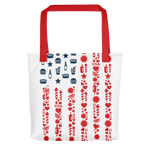 USA Lifestyle Red & White Tote Bag
