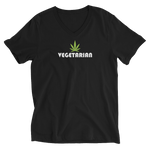 VEGETARIAN V-Neck Unisex Black Tee