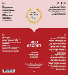 RED SECRET natural shampoo for cats and dogs