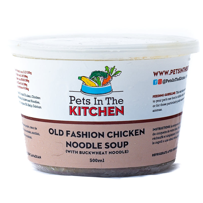 old-fashione-chicken-noodle-soup-pet-food-pets-in-the-kitchen