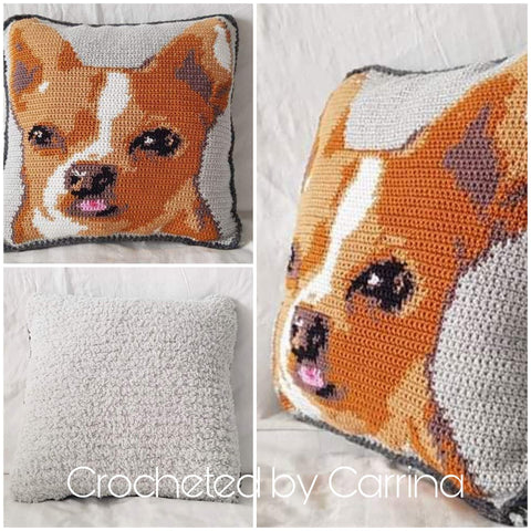 Puppy Pillow Color Custom Crochet PAttern