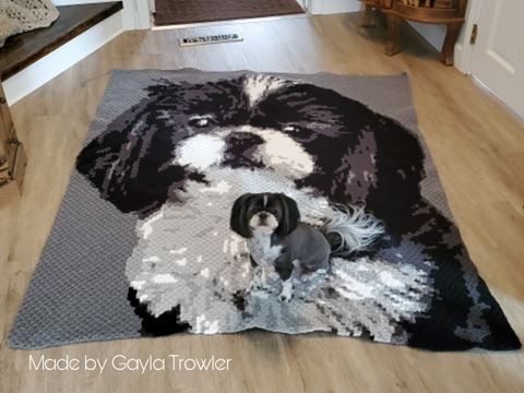 Custom photo crochet pattern designed by The Wooly Duck