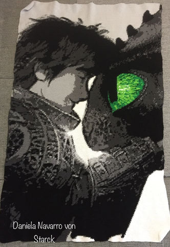 Toothless & Hiccup Crochet Graphghan How To Train Your Dragon 3 The Lost World