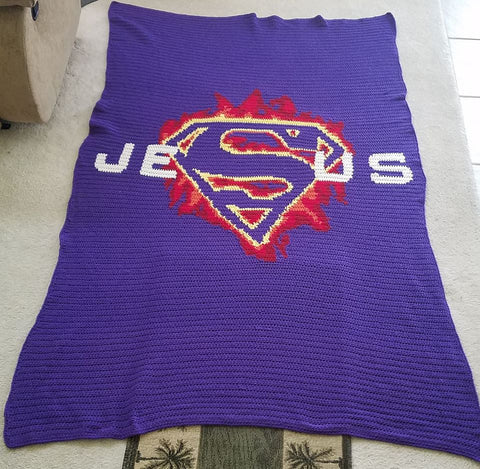 Super Jesus Free Crochet Graphghan Pattern Designed By The Wooly Duck