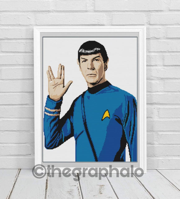 Live Long And Prosper Crochet Graphghan Pattern