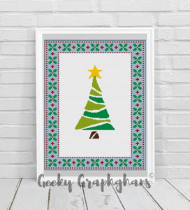 Christmas Tree Crochet Graphghan Pattern