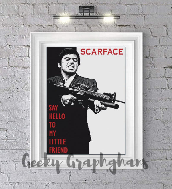 Scarface Crochet Graphghan Pattern