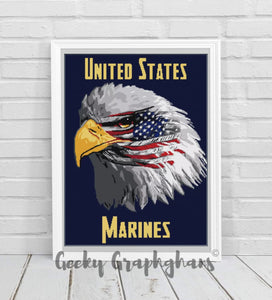 US Marines Eagle Crochet Graphghan Pattern
