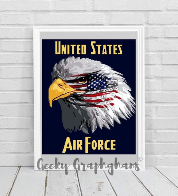 US Air Force Eagle Crochet Graphghan Pattern