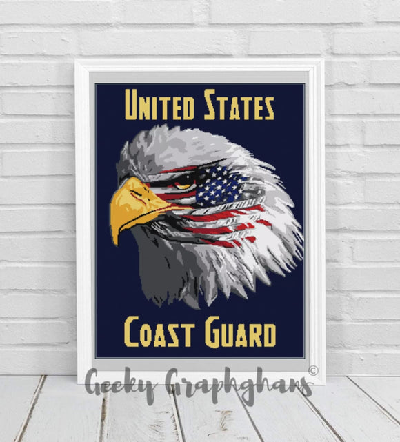 US Coast Guard Eagle Crochet Graphghan Pattern