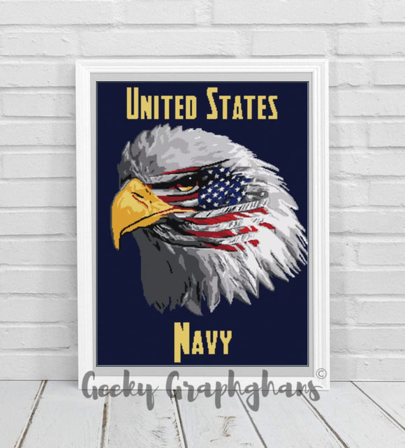 US Navy Eagle Crochet Graphghan Pattern
