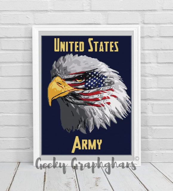 US Army Eagle Crochet Graphghan Pattern