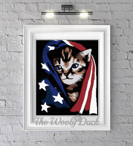Cross Stitch American Kitty Pattern