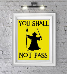 You Shall Not Pass Crochet Grapghan Pattern