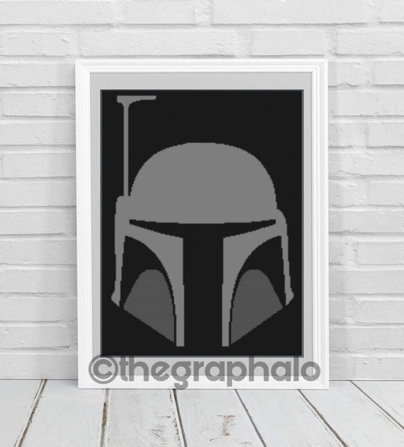 The Mandalorian Crochet Graphghan Pattern SC 180 x 260