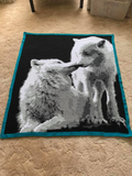 Wolves Crochet Graphghan Pattern Throw Size SC 180 x 240