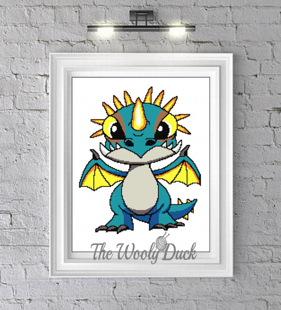 Cross Stitch Baby Stormfly  Inspired Pattern